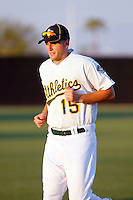 Chad Lewis - AZL Athletics - Cabrera, the Athletics 4th round draft pick, works out with his new teammates before an Arizona League game at Papago Park, Phoenix, AZ - 08/19/2010..Photo by:  Bill Mitchell/Four Seam Images..