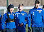 St Johnstone Training…17.01.20<br />Ali McCann pictured during training this morning with Stevie May and Wallace Duffy ahead of tomorrow's Scottish Cup tie against Greenock Morton..<br />Picture by Graeme Hart.<br />Copyright Perthshire Picture Agency<br />Tel: 01738 623350  Mobile: 07990 594431