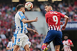 Atletico de Madrid's Nikola Kalinic and CD Leganes's Diego Reyes during La Liga match between Atletico de Madrid and CD Leganes at Wanda Metropolitano stadium in Madrid, Spain. March 09, 2019. (ALTERPHOTOS/A. Perez Meca)