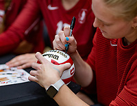Stanford, California - November 3, 2019: Stanford Women's Volleyball earned a 25-18, 25-12, 28-26 win over Oregon at Maples Pavilion in Stanford, California.