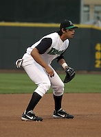 April 20, 2004:  Walter Olmstead of the Dayton Dragons, Midwest League (A) affiliate of the Cincinnati Reds, during a game at Fifth Third Field in Dayton, OH.  Photo by:  Mike Janes/Four Seam Images