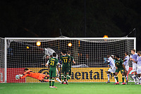 LAKE BUENA VISTA, FL - AUGUST 11: Pedro Gallese #1 of Orlando City SC make a save during a game between Orlando City SC and Portland Timbers at ESPN Wide World of Sports on August 11, 2020 in Lake Buena Vista, Florida.