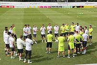 Teambesprechung mit Bundestrainer Joachim Löw und Gratulation zum 24. Geburtstag von Mario Götze - Training der Deutschen Nationalmannschaft zur EM-Vorbereitung in Ascona, Schweiz
