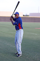 Desmond Henry  of the AZL Rangers poses before an Arizona League game against the AZL Mariners at the Mariners complex on July 8, 2011 in Peoria, Arizona. (Bill Mitchell/Four Seam Images)