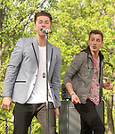 Marc Griffin and Tyler Cordy of the American pop band 2am Club perform at Rockford Park in Wilmington, Delaware May 6, 2011..Copyright EML/Rockinexposures.com.