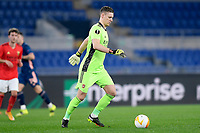 18th February 2021, Rome, Italy;  Bernd Leno of Arsenal FC brings the ball out during the UEFA Europa League round of 32 Leg 1 match between SL Benfica and Arsenal at Stadio Olimpico, Rome, Italy on 18 February 2021.