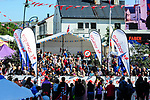 Riders line up for the start Stage 1 of the 2018 Artic Race of Norway, running 184km from Vadso to Kirkenes, Norway. 16th August 2018. <br /> <br /> Picture: ASO/Gautier Demouveaux | Cyclefile<br /> All photos usage must carry mandatory copyright credit (© Cyclefile | ASO/Gautier Demouveaux)