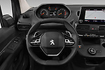 Car pictures of steering wheel view of a 2019 Peugeot Partner Pemium 4 Door Car Van Steering Wheel
