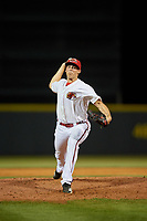 Florida Fire Frogs relief pitcher Brandon S. White (32) during a Florida State League game against the Jupiter Hammerheads on April 8, 2019 at Osceola County Stadium in Kissimmee, Florida.  Florida defeated Jupiter 7-6 in ten innings.  (Mike Janes/Four Seam Images)