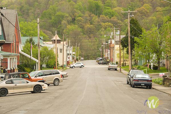 Rowlesburg, WV. Town main street. Middle America.