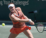 Madison Brengle (USA) loses to Andrea Petkovic (GER) 6-4, 6-4  at the Family Circle Cup in Charleston, South Carolina on April 9, 2015.