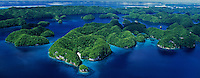 Aerial Panorama, over the Rock Islands Palau