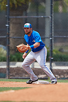 Toronto Blue Jays Bradley Jones (37) during a Minor League Spring Training game against the Philadelphia Phillies on March 30, 2018 at Carpenter Complex in Clearwater, Florida.  (Mike Janes/Four Seam Images)