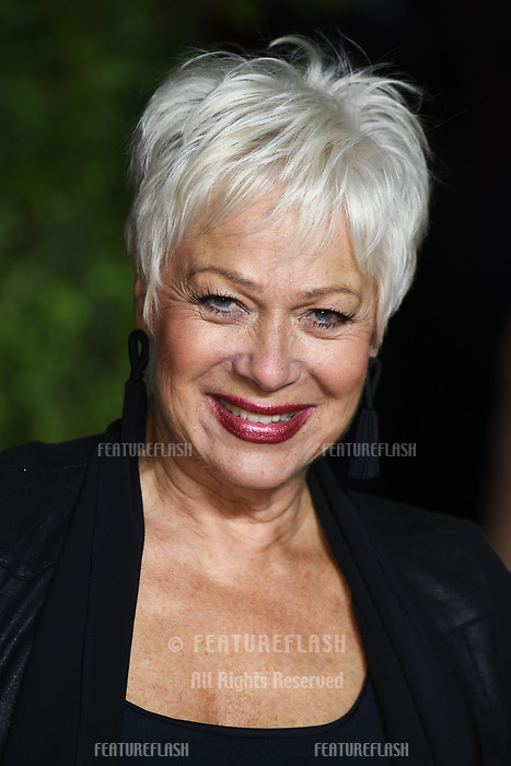 """LONDON, UK. November 13, 2019: Denise Welch arriving for """"The Crown"""" series 3 premiere at the Curzon Mayfair, London.<br /> Picture: Steve Vas/Featureflash"""