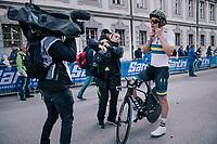Callum Scotson (AUS)<br /> <br /> MEN UNDER 23 INDIVIDUAL TIME TRIAL<br /> Hall-Wattens to Innsbruck: 27.8 km<br /> <br /> UCI 2018 Road World Championships<br /> Innsbruck - Tirol / Austria