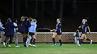 CHAPEL HILL, NC - NOVEMBER 29: Alessia Russo #19 and Bridgette Andrzejewski #4 of the University of North Carolina celebrate a goal with players on the bench during a game between University of Southern California and University of North Carolina at UNC Soccer and Lacrosse Stadium on November 29, 2019 in Chapel Hill, North Carolina.