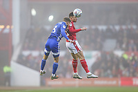 Joe Bennett of Cardiff City and Matty Cash of Nottingham Forest during the Sky Bet Championship match between Nottingham Forest and Cardiff City at the City Ground, Nottingham, England on 30 November 2019. Photo by David Horn.