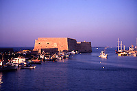Iraklion Harbour, Crete. Greece. The 16th Century Venetian Fortress. Rocca al Mare