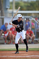Lucas Costello (6) during the WWBA World Championship at the Roger Dean Complex on October 10, 2019 in Jupiter, Florida.  Lucas Costello attends Westminster Christian High School in Miami, FL and is committed to Wake Forest.  (Mike Janes/Four Seam Images)