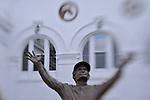 4 October 2010:  Statue of Churchill Down's winningest jockey, Pat Day, at Churchill Downs in Louisville, KY.