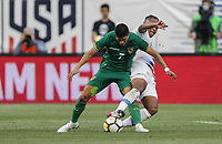 Chester, PA - Monday May 28, 2018: Luis Alí, Weston McKennie during an international friendly match between the men's national teams of the United States (USA) and Bolivia (BOL) at Talen Energy Stadium.