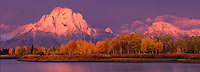 749450328P Mount Moran and the Tetons at Sunrise.Oxbow Bend of the Snake River.Grand Tetons National Park, Wyoming