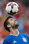 Gerard Pique of Spain warming up during their 2018 FIFA World Cup Russia Final Qualification Round 1 Group G match between Spain and Italy on 02 September 2017, at Santiago Bernabeu Stadium, in Madrid, Spain. Photo by Diego Gonzalez / Power Sport Images