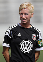 BOYDS, MARYLAND - July 22, 2012:  Joanna Lohman (17) of DC United Women before the game against the Charlotte Lady Eagles during the W League Eastern Conference Championship match at Maryland Soccerplex, in Boyds, Maryland on July 22. DC United Women won 3-0.