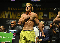 HOLLYWOOD FL - JUNE 05: Logan Paul weighing in at 189.5 lbs  during the weigh in at Hard Rock Live held at the Seminole Hard Rock and Casino for there exhibition fight on June 6th at Hard Rock Stadium on June 5, 2021 in Hollywood, Florida.<br /> CAP/MPI04<br /> ©MPI04/Capital Pictures
