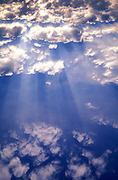 Sunbeams and clouds