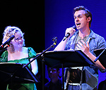 "Amanda Jane Cooper and Zach Adkins during the New York Musical Festival production of  ""Alive! The Zombie Musical"" at the Alice Griffin Jewel Box Theatre on July 29, 2019 in New York City."