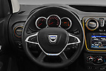 Car pictures of steering wheel view of a 2017 Dacia Dokker Stepway SL Explorer 5 Door Mini Van