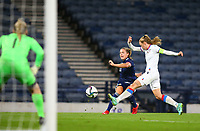 21st September 2021; Hampden Park, Glasgow, Scotland: FIFA Womens World Cup qualifying, Scotland versus Faroe Islands; Kirsty Hanson of Scotland shoots on goal