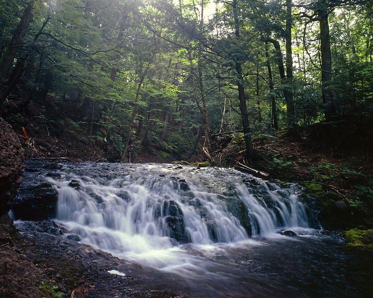 Greenstone Falls, Porcupine Mountains Wilderness State Park, Michigan, June, 1986.