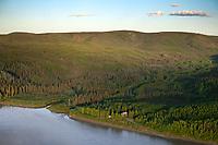 Historic Slaven's Roadhouse along the Yukon River, Yukon Charley Rivers National Preserve, Alaska