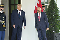 United States President Donald J. Trump welcomes Dr. Abdullatif bin Rashid Alzayani, Minister of Foreign Affairs, Kingdom of Bahrain, to the White House in Washington, DC on Tuesday, September 15, 2020.  Dr. Alzayani is in Washington to sign the Abraham Accords, a peace treaty with the State of Israel.<br /> Credit: Chris Kleponis / CNP /MediaPunch