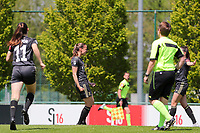 Lenie Onzia (8) of OHL celebrates her goal during a female soccer game between Standard Femina de Liege and Oud Heverlee Leuven on the 10th and last matchday in play off 1 of the 2020 - 2021 season of Belgian Scooore Womens Super League , saturday 29 th of May 2021  in Angleur , Belgium . PHOTO SPORTPIX.BE   SPP   SEVIL OKTEM