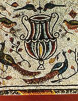 Ravenna: Temple of San Vitale--Mosaic of early oratory of San Vitale.
