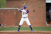 Brian Rall (20) of the High Point Panthers at bat against the Campbell Camels at Williard Stadium on March 16, 2019 in  Winston-Salem, North Carolina. The Camels defeated the Panthers 13-8. (Brian Westerholt/Four Seam Images)
