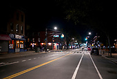 April 18, 2020<br /> Brooklyn, New York<br /> Park Slope<br /> <br /> The closed businesses on a Saturday night on 5th Avenue in Brooklyn during the time of the cononavirus pandemic.