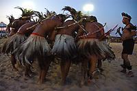 Durante o segundo dia do III Jogos Tradicionais Indígenas do Pará, que este ano conta com a participação de 16 etnias de 4 estados,   <br /> Conceição do Araguaia, Pará, Brasil<br /> 20/08/2006.Foto Paulo Santos