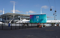 Seilbahn fährt VIPs ins Hard Rock Stadium - 22.01.2020: SB LIV im Hard Rock Stadium Miami