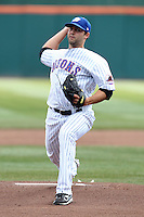 Buffalo Bisons pitcher Dillon Gee #18 delivers a pitch during a game against the Syracuse Chiefs at Dunn Tire Park on April 7, 2011 in Buffalo, New York.  Syracuse defeated Buffalo 8-5.  Photo By Mike Janes/Four Seam Images