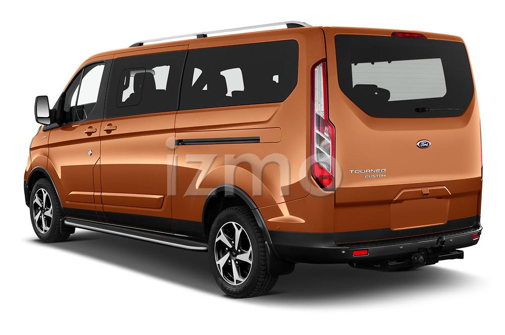 Car pictures of rear three quarter view of 2021 Ford Tourneo-Custom Active 5 Door Passenger Van Angular Rear