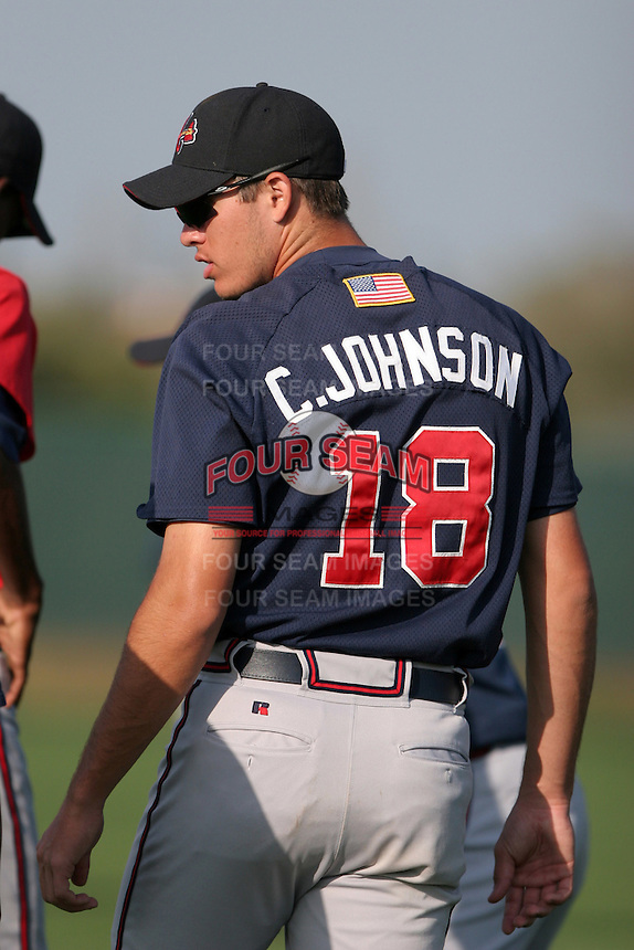 Atlanta Braves minor leaguer Cody Johnson during Spring Training at Disney's Wide World of Sports on March 15, 2007 in Orlando, Florida.  (Mike Janes/Four Seam Images)