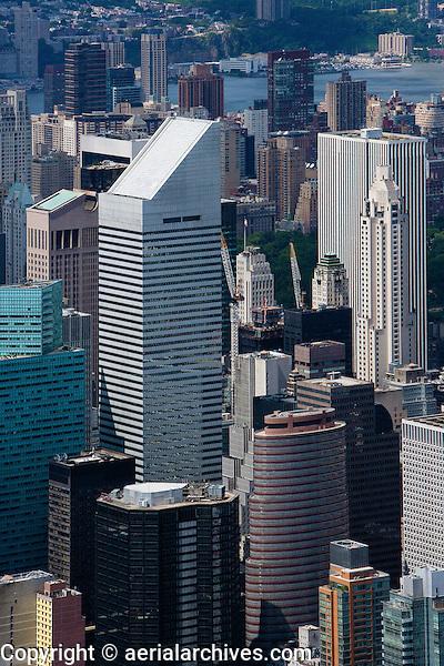 aerial photograph Citigroup Center, Lipstick building,skyscrapers, Manhattan, New York City