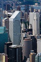 aerial photograph Citigroup Center, Lipstick building,skyscrapers, Manhattan, New York City