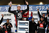 #51: Kyle Busch, Kyle Busch Motorsports, Toyota Tundra Cessna, celebrates after winning.
