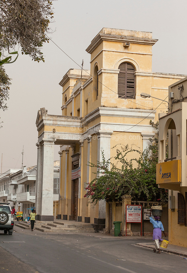 Senegal, Saint Louis.  Catholic Cathedral, built 1828.