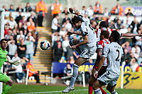 Saturday 19 October 2013 Pictured: <br /> Re: Michu of Swansea makes an attempt at goal Barclays Premier League Swansea City vSunderland at the Liberty Stadium, Swansea, Wales